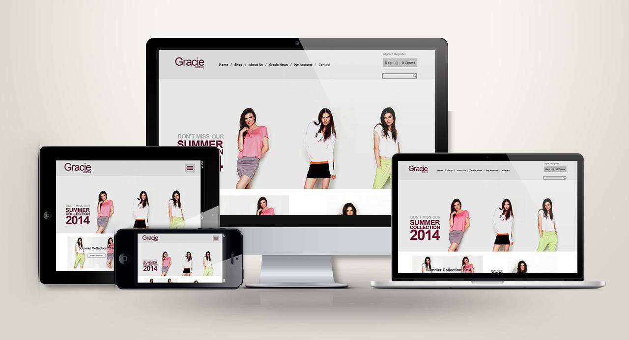 Gracie Clothing Ecommerce Website