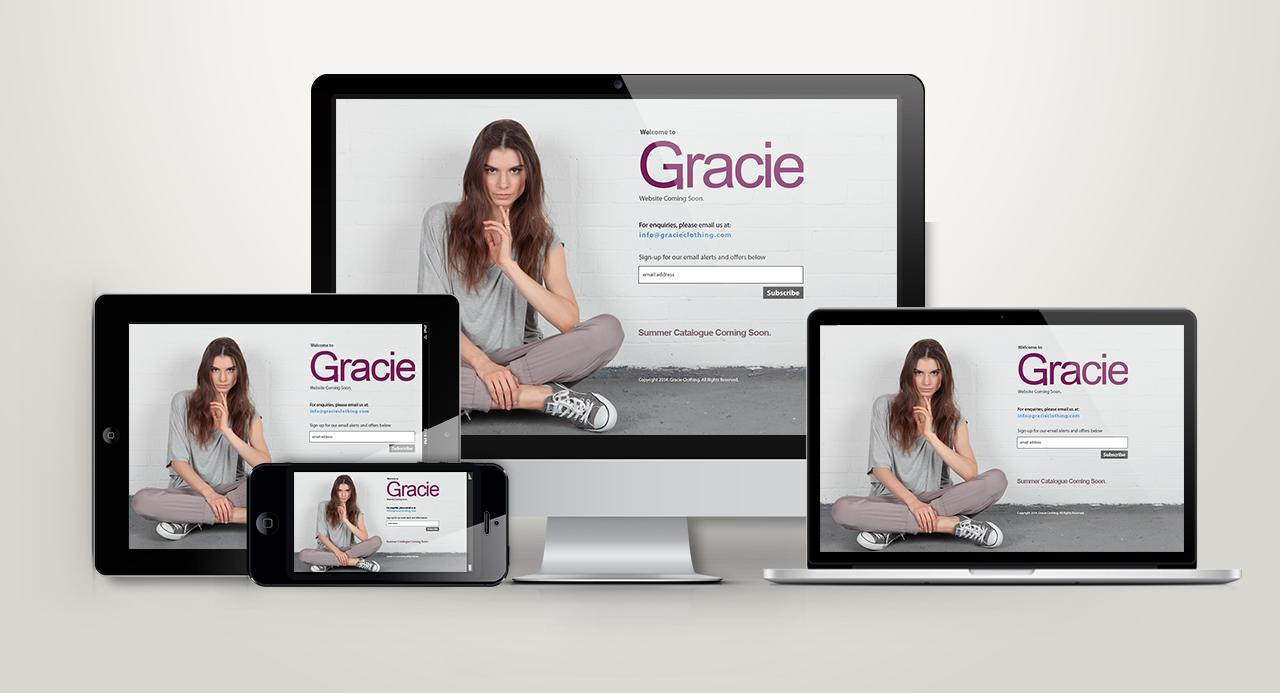 Gracie Clothing Holding Page